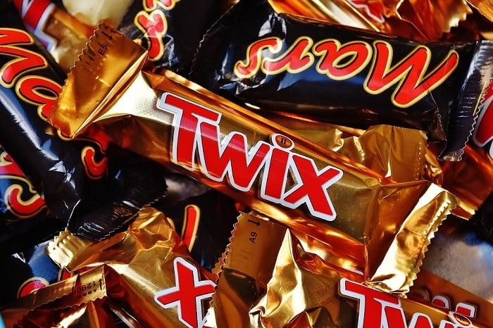 Hoeveel calorieën in een Mars, Snickers en Twix?