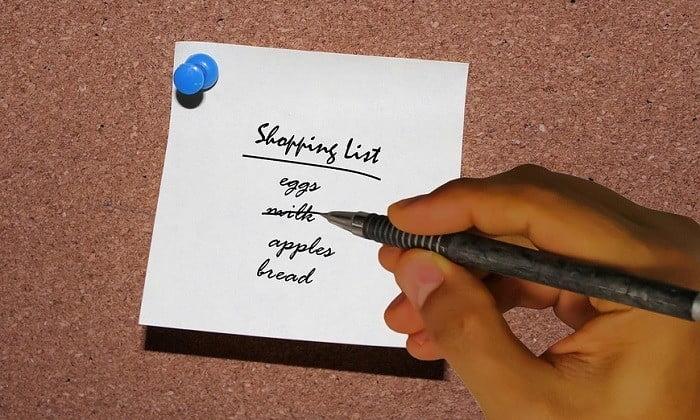 Gezonde boodschappenlijst maken!
