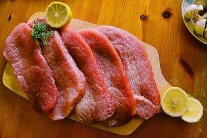Overzicht met mager vlees
