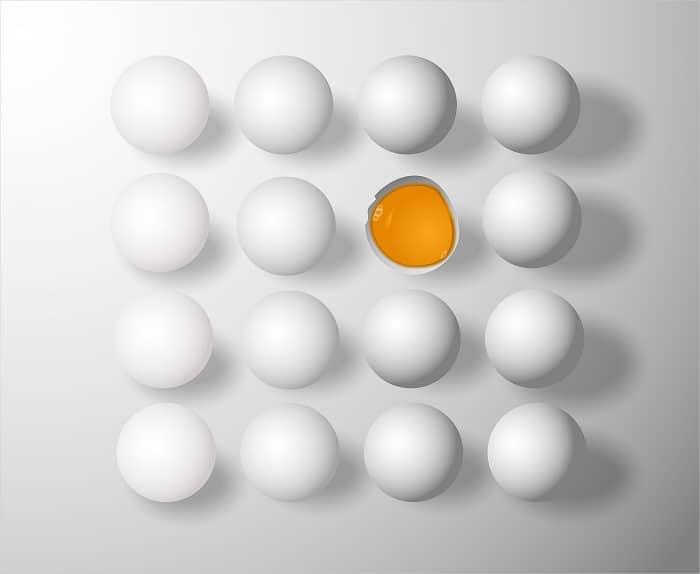hoeveel eieren is 100 gram eiwit