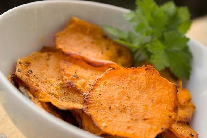 Zoete aardappel chips maken!