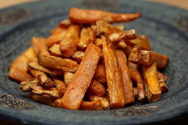 Zoete aardappel friet maken!